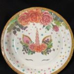 Unicorn eyelash plates 10pc 23cm