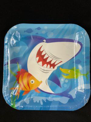 Shark Plates 23cm 10pc