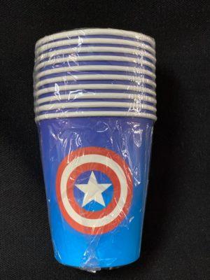 Captain America Cups 10pc