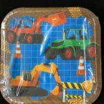 Construction Plates Kids 18cm 10pc