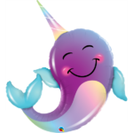 40 INCH FOIL BALLOON NARWHAL 1CTP