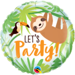18 INCH FOIL LETS PARTY TOUCAN & SLOTH