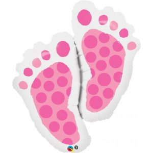 35 INCH FOIL SHAP SW BABY FEET PINK 1CTP