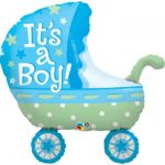 35 INCH FOIL SHAP SW ITS A BOY BABY STROLLER 1CTP