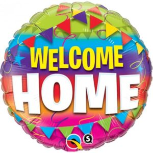 18 INCH FOIL RND WELCOME HOME PENNANTS 1CTP