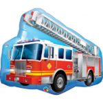 36 INCH FOIL SHAPE SW RED FIRE TRUCK 1CTP