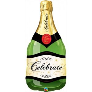 39 INCH FOIL CELEBRATE BUBBLY WINE BOTTLE 1CTP