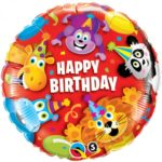 18 INCH FOIL BDAY PARTY ANIMALS RND 1CTP