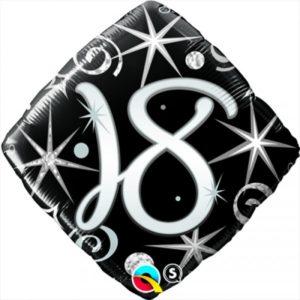 18 INCH FOIL AGE 18 ELEGNT SPARKL&SWIRLS 1CTP