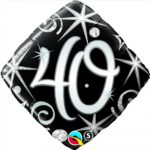 18 INCH FOIL AGE 40 ELEGNT SPARKL&SWIRLS 1CTP
