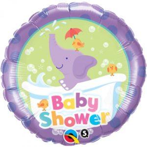 18 INCH FOIL RND BABY SHOW ELEPHAN 1CTP
