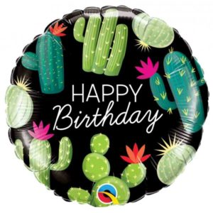 18 INCH FOIL BIRTHDAY CACTUSES 1CTP