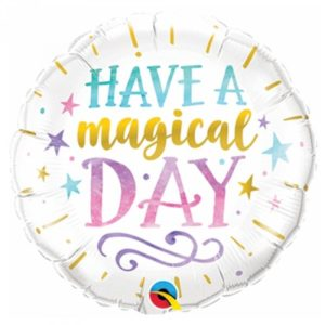 18 INCH FOIL RND HAVE A MAGICAL DAY 1CTP