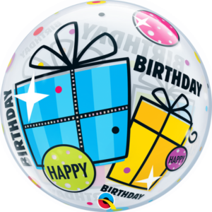 22 INCH SINGLE BUBBLE BDAY FUN & FUNKY GIFTS 1CTP