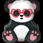 32 INCH FOIL SHAPE SW LOVESTRUCK PANDA BEAR 1CTP