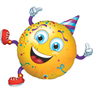 38 INCH FOIL SMILEY PARTY GUY 1CTP