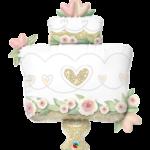 41 INCH FOIL GLITTER GOLD WEDDING CAKE 1CTP