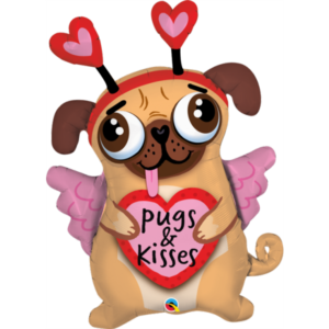 36 INCH FOIL PUGS AND KISSES 1CTP