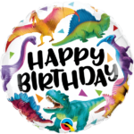 18 INCH FOIL RND BIRTHDAY COLOURFUL DINOSAURS 1CTP