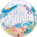 22 INCH SINGLE BUBBLE HAPPY B DAY MERMAID 1CTP