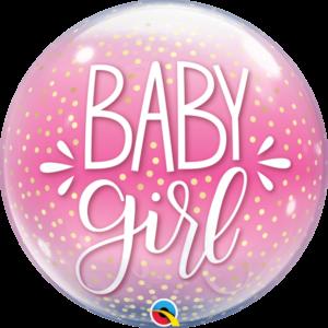 22 INCH SINGLE BUBBLE BABY GIRL PINK & CONFETTI DO