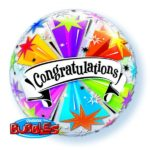 22 INCH SINGLE BUBBLE CONGRATS BANNER BLAST 1CTP