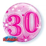 22 INCH SINGLE BUBBLE 30 PNK STARBURST SPRKLE 1CTP