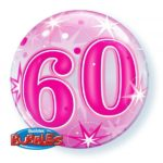 22 INCH SINGLE BUBBLE 60 PNK STARBURST SPRKLE 1CTP