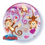 22 INCH SINGLE BUBBLE LOVE MONKEYS 1CTP
