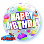 22 INCH SINGLE BUBBLE BDAY COL CUP 1CTP