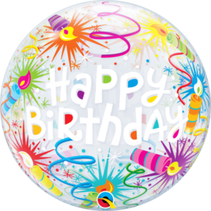 22 INCH SINGLE BUBBLE BDAY LIT CANDLES 1CTP