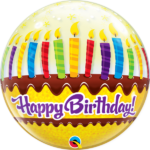 22 INCH SINGLE BUBBLE BDAY CANDLES & FROSTING 1CTP