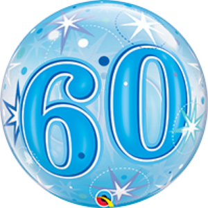 22 INCH SINGLE BUBBLE STARBURST SPARK AGE 60 1CTP