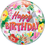 22 INCH SINGLE BUBBLE TROPICAL HAPPY BIRTHDAY 1CTP