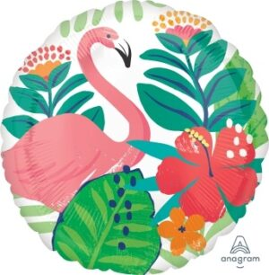 18:Tropical Jungle Flamingo