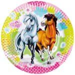 PL:Charming Horses Paper Plates 23cm 8