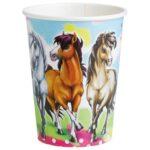 CU:Charming Horses Paper Cups 8