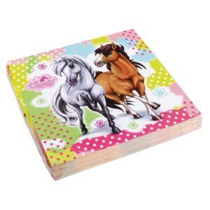 NA:Charming Horses Napkins 33cm 20
