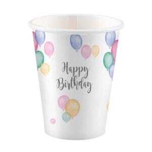 CU:Happy Birthday Pastel Paper Cups 8