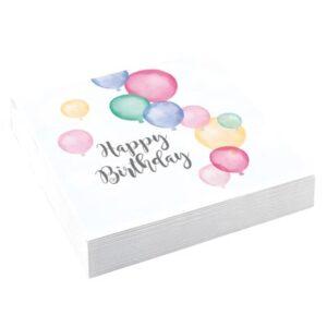 NA:Happy Birthday Pastel Napkins 33cm 20