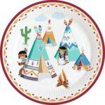 PL:Tepee & Tomahawk Paper Plates 8
