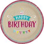 PL:My Birthday Paper Paper Plates 23cm 8