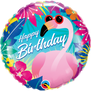 18 INCH FOIL BIRTHDAY TROPICAL FLAMINGO 1CTP