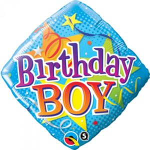 18 INCH FOIL BDAY BOY ST DIAMOND 1CTP