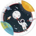ASTRONAUT PAPER PLATES LARGE 23CM ( 3 DESIGNS) 8CT