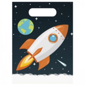 ASTRONAUT PARTY BAGS 6CT