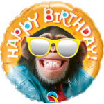 18 INCH FOIL BIRTHDAY SMILING CHIMP 1CTP