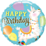 18 INCH FOIL HAPPY BIRTHDAY LLAMA 1CTP