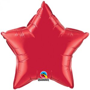20 INCH FOIL STAR ST RUBY RED PLAIN 1CTL