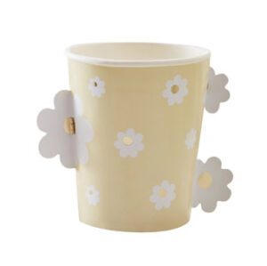 Daisy Crazy – Paper Cup – Gold Foiled Pop Out Daisies Cup